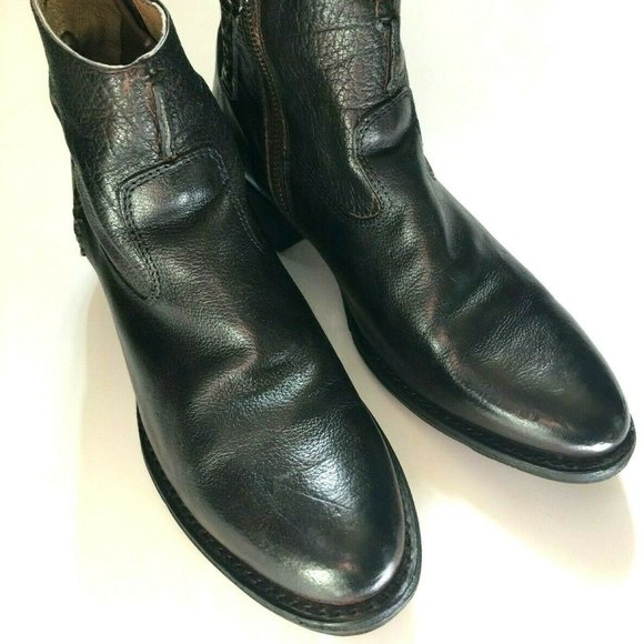 VTG Frye Brown Patina Leather Ankle Boots Sz 6